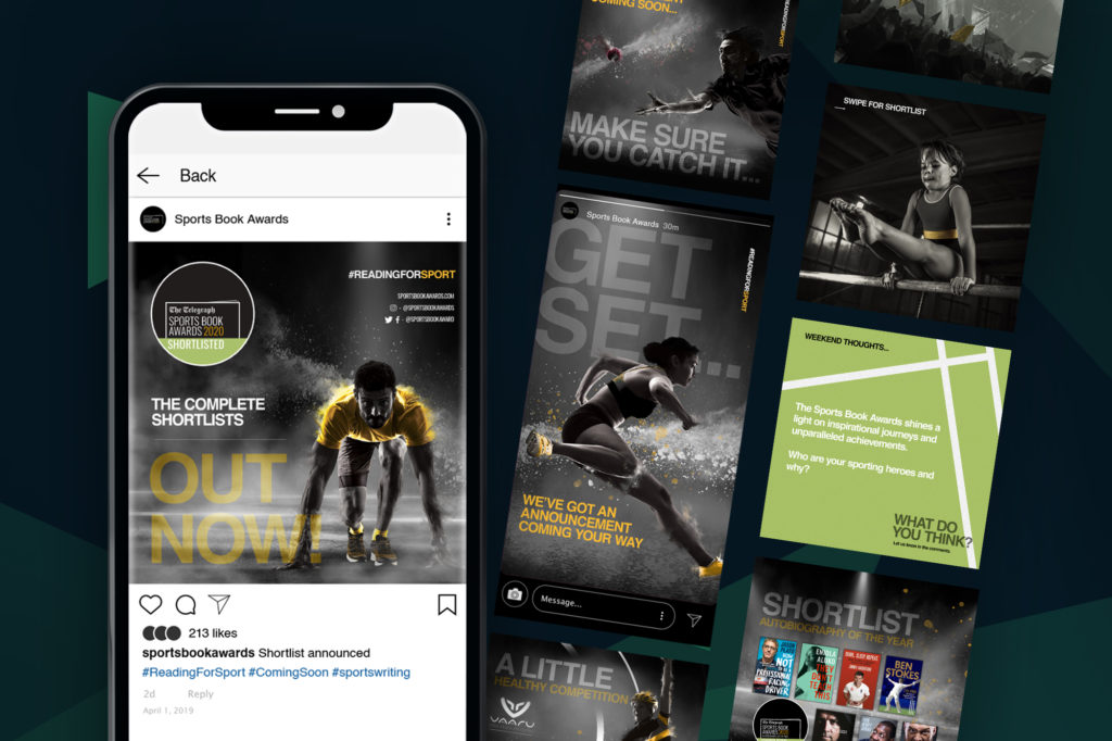 The Sports Book Awards Social Media Campaign Visual