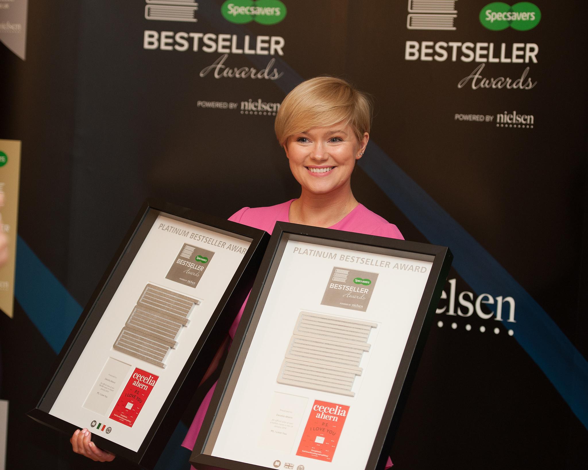 Cecelia Ahern picks up two Nielsen Bestseller Awards