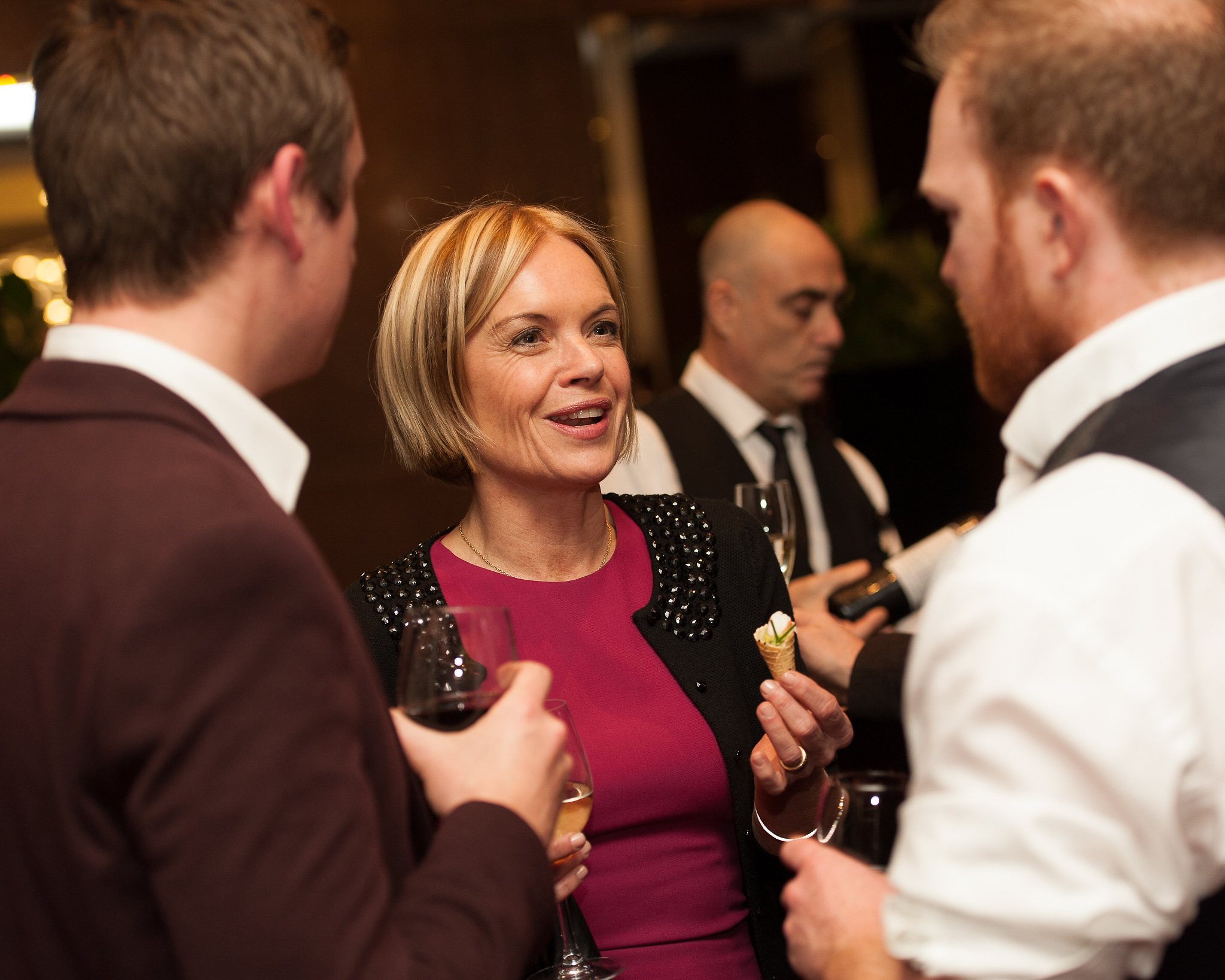Mariella Frostrup conversing at the Nielsen Bestseller Awards