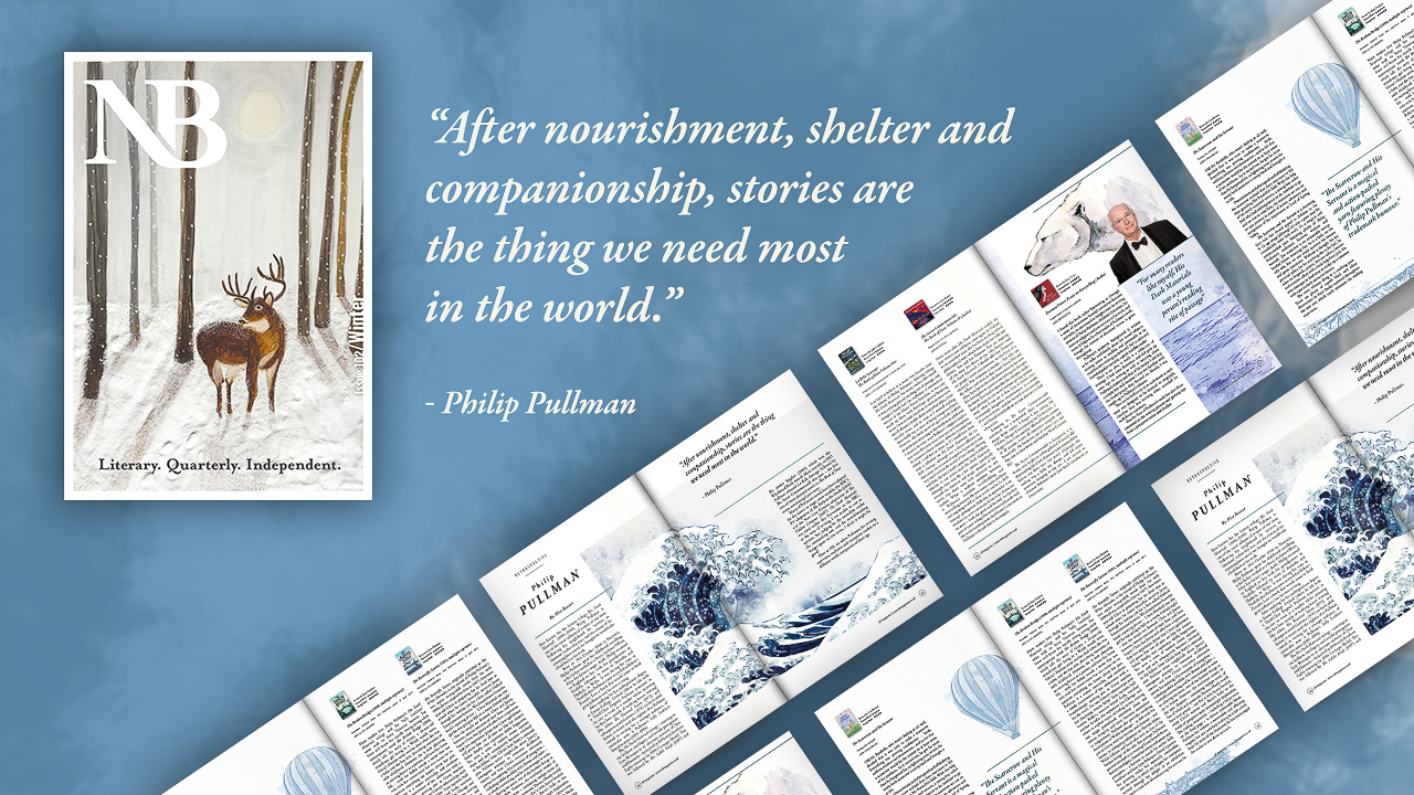Author Retrospective on Philip Pullman in NB Magazine 102 Christmas Issue