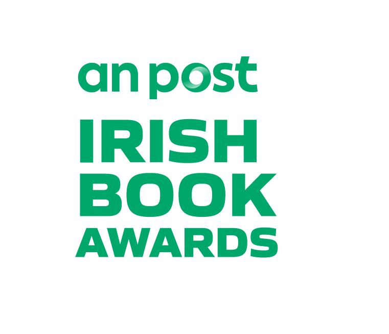 An Post Irish Book Awards Logo White Green