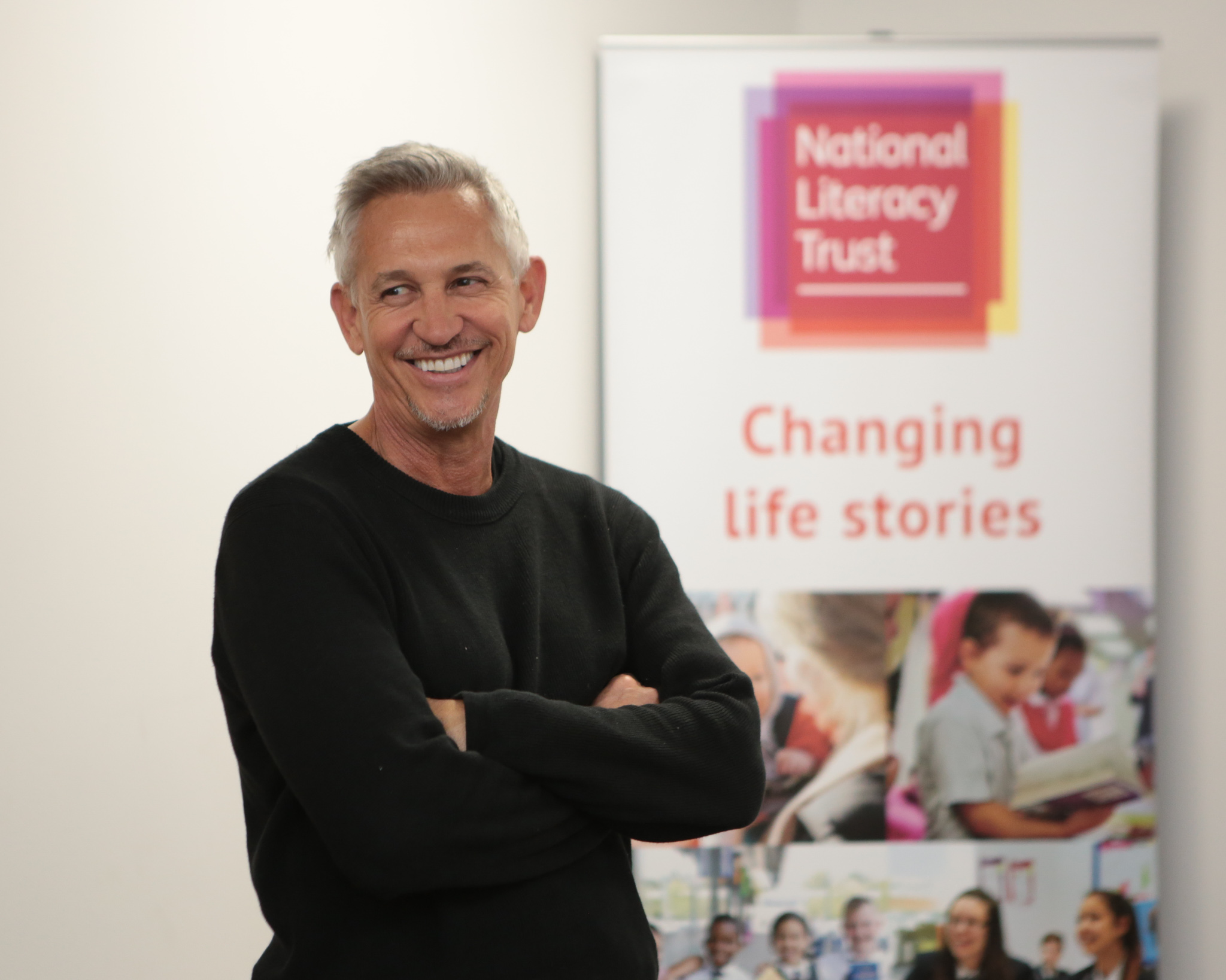 Gary Lineker at the Sports Book Awards event for The National Literacy Trust