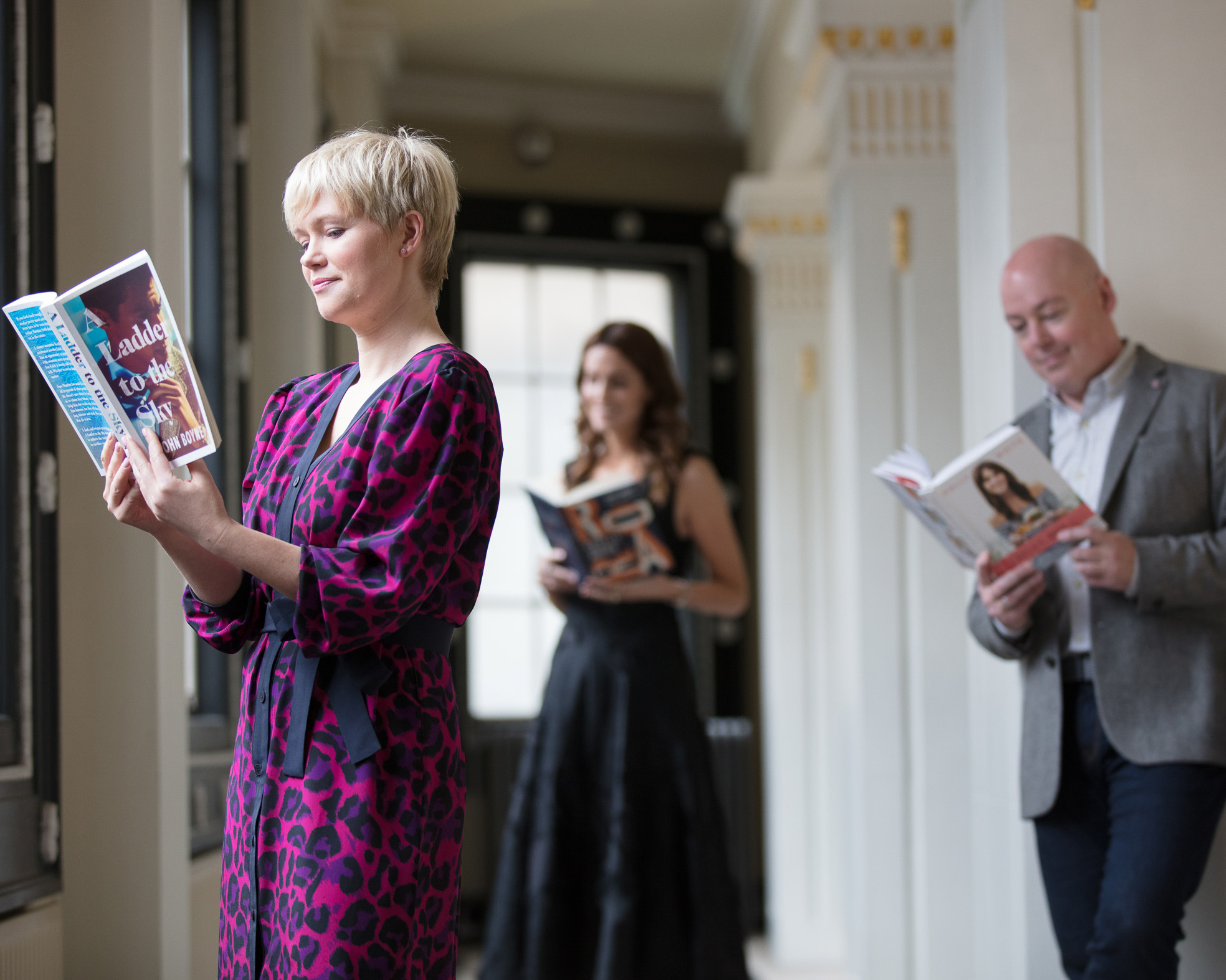 Pictured at the announcement of the shortlist for the An Post Irish Book Awards 2018 were: Cecelia Ahern, John Boyne and Holly White