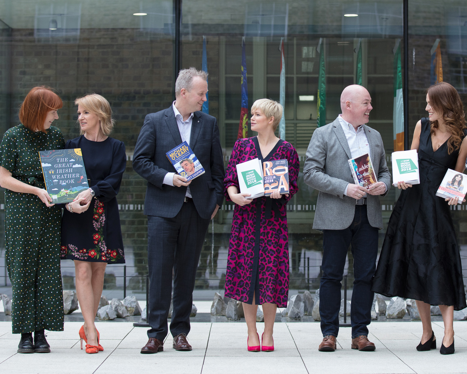Pictured at the announcement of the shortlist for the An Post Irish Book Awards 2018