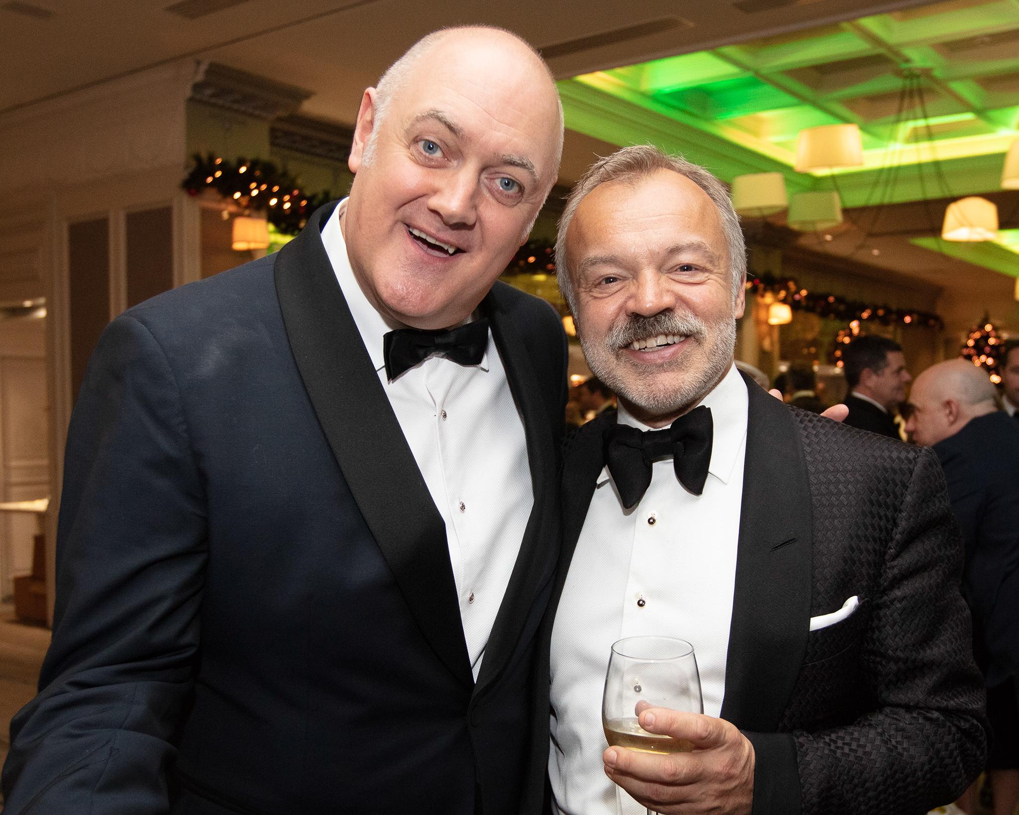 Dara O'Briain and Graham Norton pictured at the An Post Irish Book Awards
