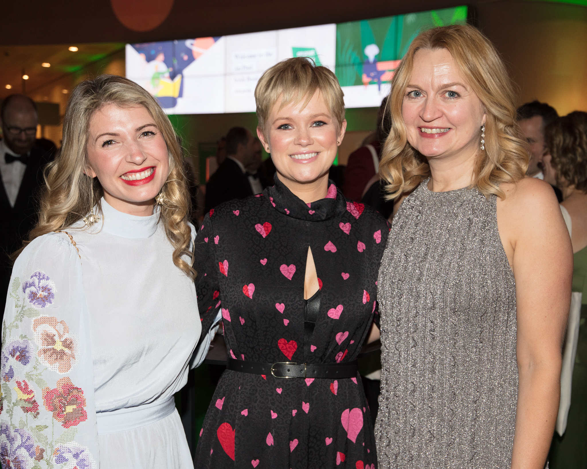 Hannah O'Brien, Cecelia Ahern and Lynne Drew pictured at the An Post Irish Book Awards