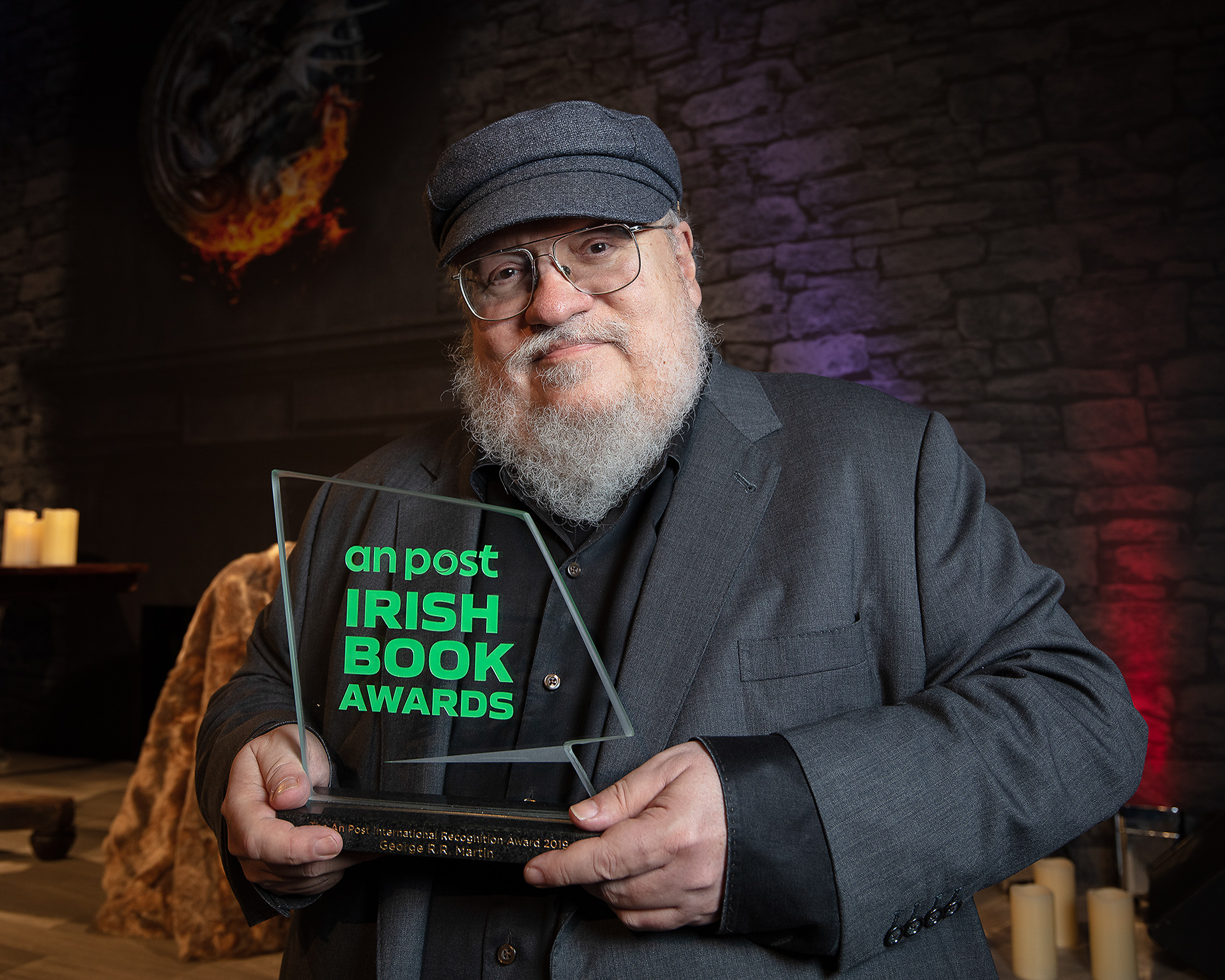 George R.R. Martin, the world-renowned author and creative force behind A Game of Thrones, has received The An Post International Recognition Award as part of this year's An Post Irish Book Awards.