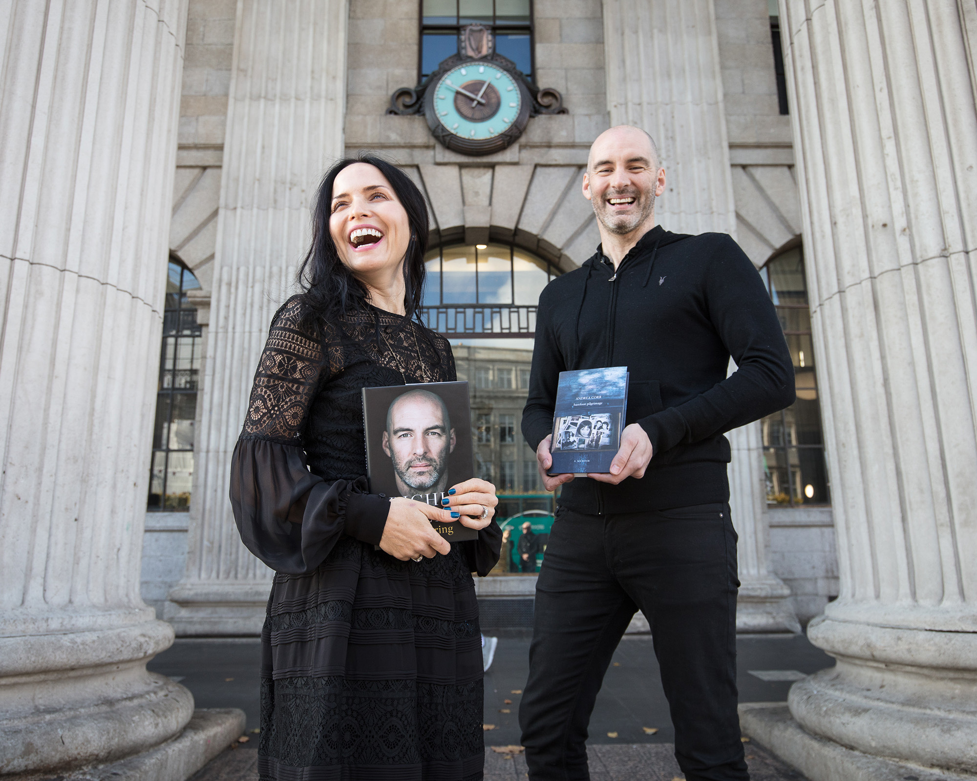 An Post Irish Book Awards Shortlistee's outside the GPO in Dublin